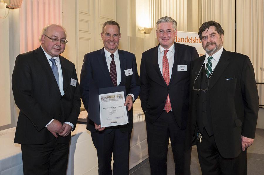 Auszeichnung der Fuerst Fugger Privatbank