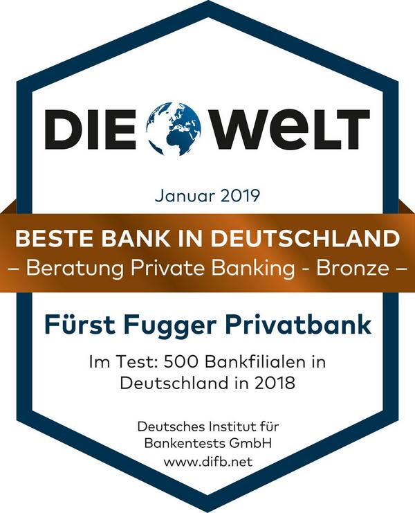 Auszeichnung die Welt für das Private Banking