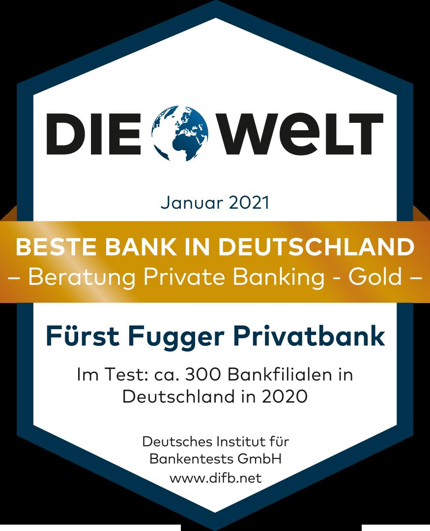 DIE WELT beste Bank in Deutschland
